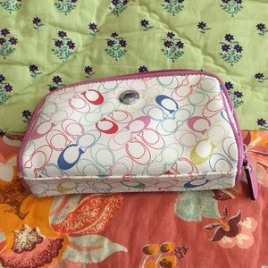 Coach small makeup bag AS IS